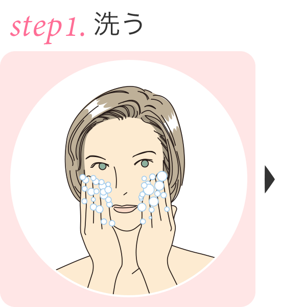 step.1 洗う